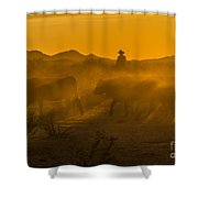 Cattle Drive 8 Shower Curtain