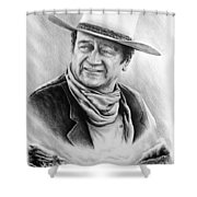 Cattle Drive Bw Version Shower Curtain