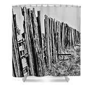Cattle Fence By Diana Sainz Shower Curtain