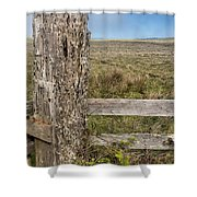 Cattle Fence On The Stornetta Ranch Shower Curtain