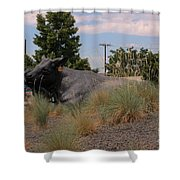 Cattle In Downtown Denver Shower Curtain