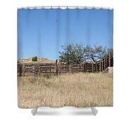 Cattle Pen Shower Curtain