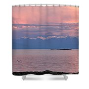 Cattle Point At Sunset On Vancouver Island British Columbia Shower Curtain