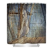 Caught By The Sea Shower Curtain