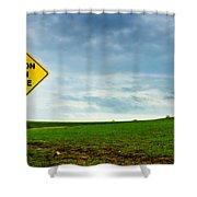 Caution Open Range Shower Curtain