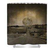 Caution Road Shower Curtain