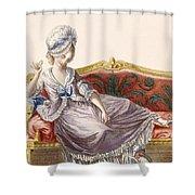 Cavaco A La Polonaise, Engraved Shower Curtain