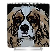 Cavalier Spaniel Shower Curtain