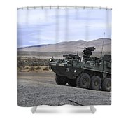 Cavalry Troopers Fire Shower Curtain