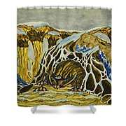 Cave Creature Shower Curtain