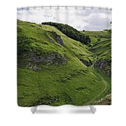 Cave Dale From Peveril Castle Shower Curtain
