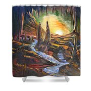 Cave Dwellers Shower Curtain