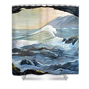 Cave Wave By Chris Shower Curtain