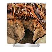 Cavern Path Shower Curtain by Dan Sproul