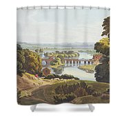 Caversham Bridge, Near Reading Shower Curtain by William Havell