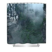 Caving Expedition To Explore The Caves Shower Curtain