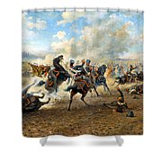 Cavlary Battle Shower Curtain by Victor Mazurovskii