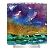 Cayman Color Water Shower Curtain