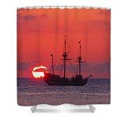 Cayman Sunset Shower Curtain by Carey Chen