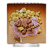 Cchocolates And Sweets Shower Curtain