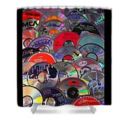 Cd Collage Shower Curtain