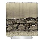 Ceasarea Aqueduct 1 Antiqued Shower Curtain