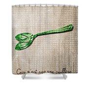 Ceci N'est Pas Une Cuillere By Neo Shower Curtain