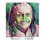 Cecil Taylor - Watercolor Portrait Shower Curtain