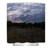 Cedar Park Texas Cedar And Clouds Sunset Shower Curtain