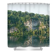 Cedar Hollow Quarry Panorama Shower Curtain