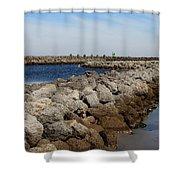 Cedar Island Gateway Shower Curtain