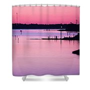 Cedar Island Pinks Shower Curtain