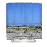 Cedar Island Ponies Shower Curtain