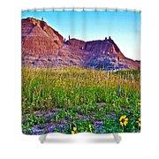 Cedar Pass At Dusk In Badlands National Park-south Dakota Shower Curtain