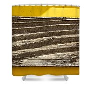 Cedar Plank On Yellow Shower Curtain
