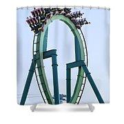 Cedar Point Roller Coaster Shower Curtain