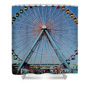 Cedar Point Sunday Shower Curtain