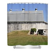 Cedar View Farm Barn Shower Curtain
