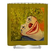 Cee-cee, Child Clown  Shower Curtain