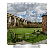 Cefn Viaduct Shower Curtain by Adrian Evans