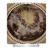 Ceiling Fresco - Cupola Capitol Washington Dc Shower Curtain