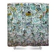 Ceiling Of Dollar Bills  Shower Curtain