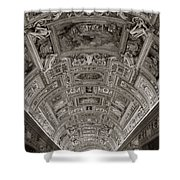 Ceiling Of Hall Of Maps Shower Curtain