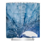 Jagged Ceiling Of Paradise Ice Cave Shower Curtain