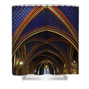 Ceiling Of The Sainte-chapelle  Paris Shower Curtain