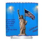 Celebrate Independence Shower Curtain