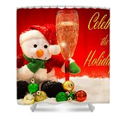 Celebrate The Holidays Shower Curtain