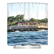 Celebrate The Waves Shower Curtain
