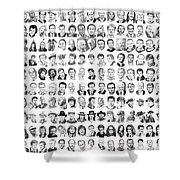 Celebrity Drawings Shower Curtain
