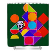 Celebrity Squares Shower Curtain